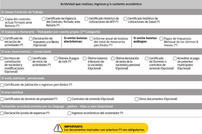 acreditar actividad ingresos sustento economico permanencia definitiva pede chile immichile extranjeria