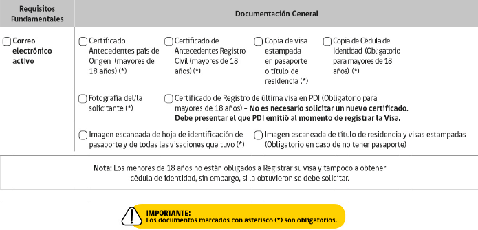 documentación general solicitud de permanencia definitiva en chile extranjería immichile