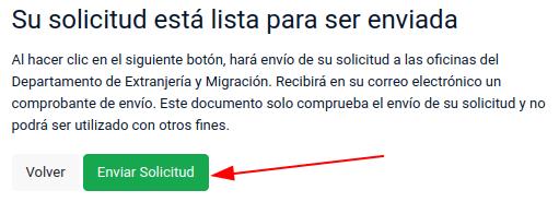 su solicitud está lista para ser enviada traspaso de visa extranjeria chile immichile