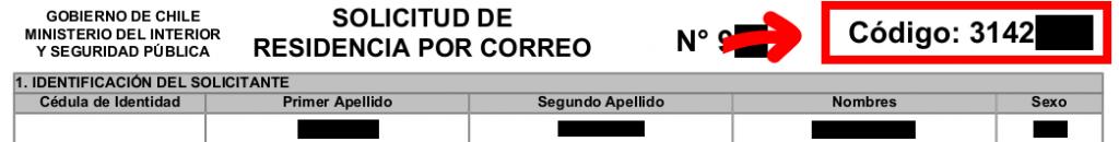 codigo de extranjero solicitud de visa residencia por correo departamento de extranjeria y migracion chile