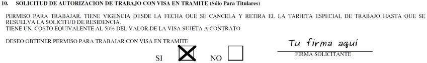permiso de trabajo con visa en tramite extranjeria chile immichile