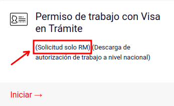 solicitud de permiso de trabajo con visa en tramite region metropolitana chile immichile migraciones extranjeria