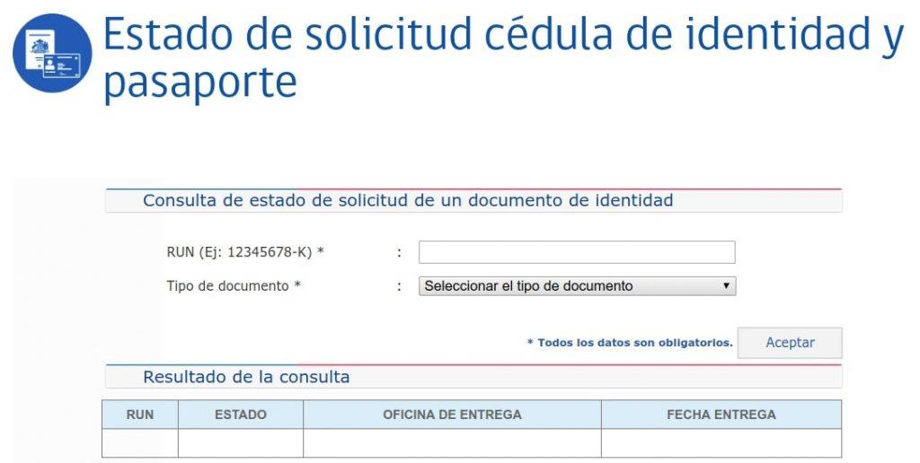 Estado de solicitud de cedula de identidad para extranjeros registro civil chile