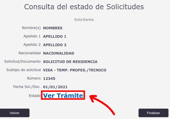 ver tramite solicitud de visa en linea departamento de extranjeria y migracion chile immichile