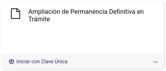 Ampliación de Permanencia Definitiva en Trámite en linea departamento de extranjeria y migracion chile immichile