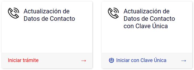 actualización de datos de contacto clave única departamento de Extranjería y Migración chile immichile