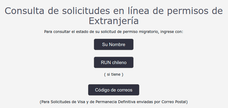 consulta de estado solicitud permanencia definitiva sitio web extranjeria chile migraciones immichile