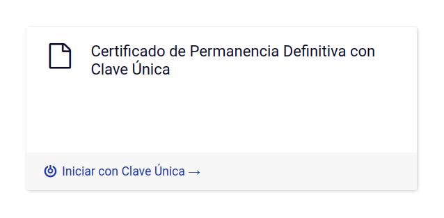 nuevo tramite en linea departamento de extranjeria y migracion chile certificado de permanencia definitiva con clave unica certificado digital