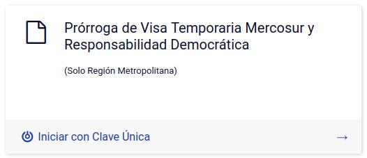 solicitud de prorroga de visa temporaria para miembros del mercosur en linea departamento extranjeria y migracion chile argentina bolivia brasil paraguay uruguay