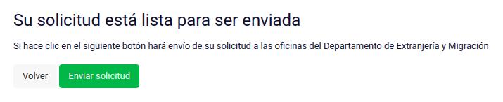 su solicitud esta lista para ser enviada subsanar solicitud permanencia definitiva extranjeria chile immichile