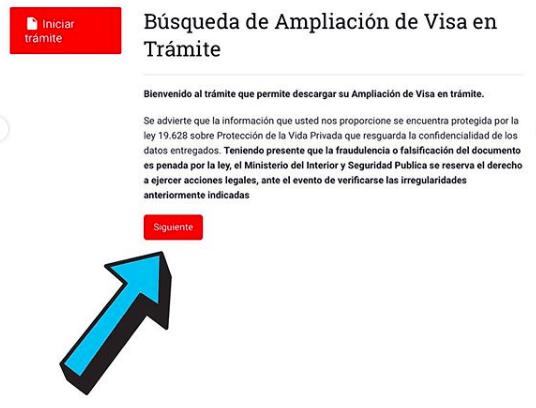 ampliacion solicitud visa en tramite departamento de extranjeria y migracion chile immichile