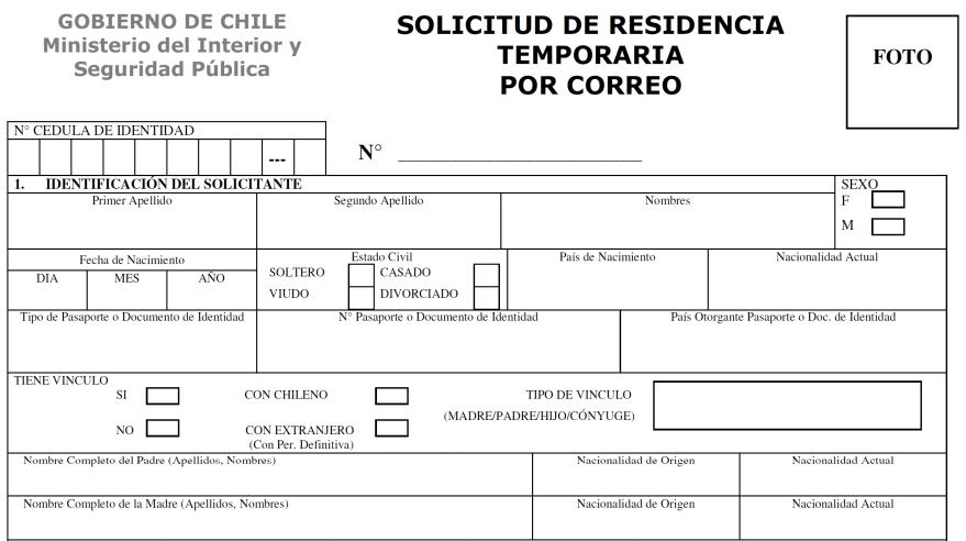 solicitud de residencia temporaria por correo region metropolitana departamento de extranjeria y migracion chile immichile
