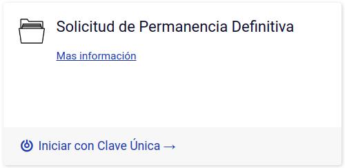 Solicitud de Permanencia Definitiva con clave unica extranjeria migraciones immichile 1