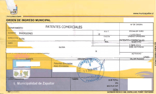 acreditar pago de patentes municipales permanencia definitiva extranjeria chile immichile