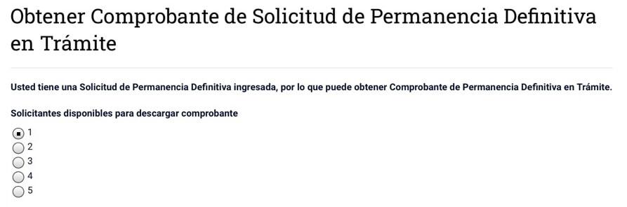 comprobante solicitud de visa en trámite menores de edad extranjeria chile immichile