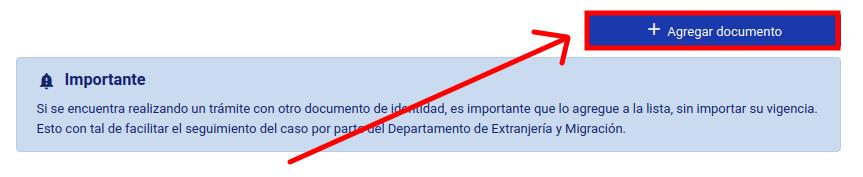 agregar documento calculo de multa extranjeria migraciones immichile