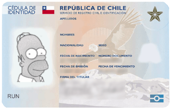 cedula de identidad chilena chile run rut registro civil immichile
