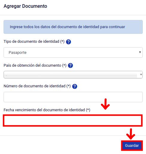 Agregar fecha de vecimiento documento de identificación calculo pago de multa extranjeria en linea chile immichile