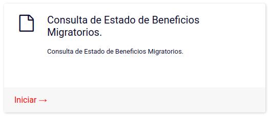 Consulta de Estado de Beneficios Migratorios extranjeria chile immichile migraciones
