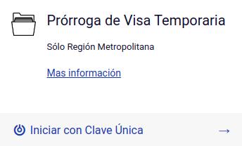 Prórroga de visa temporaria en línea tramites en linea de extranjeria migraciones immichile