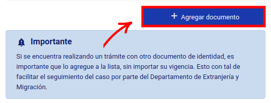 agregar documento calculo y pago de multa extranjeria tramites en linea de extranjeria migraciones chile immichile