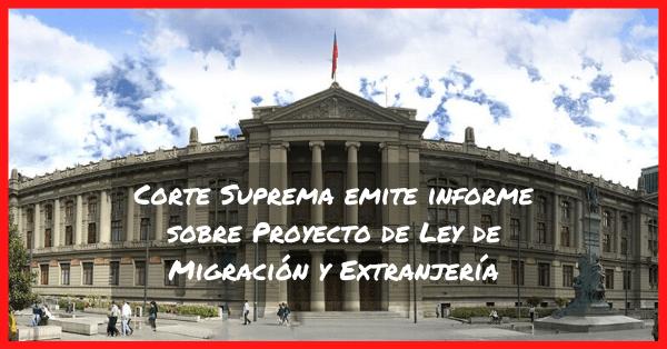 corte suprema de chile evacua informe sobre proyecto de migracion y extranjeria immichile