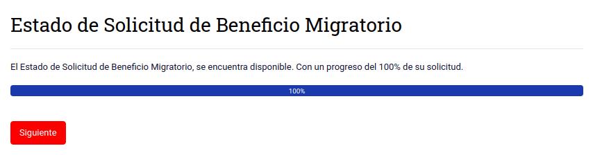 estado de avance de trámite estado beneficios migratorios extranjeria migraciones chile immichile