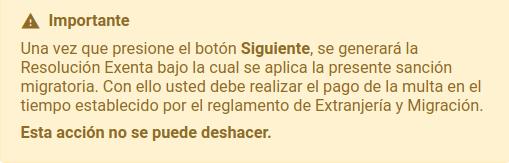 importante calculo de multa no se puede deshacer extranjeria chile immichile