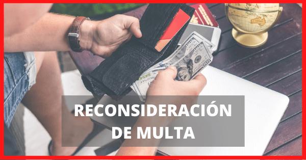 reconsideracion de multa extranjeria chile immichile