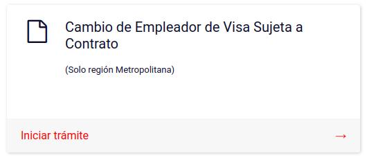 Cambio de Empleador de Visa Sujeta a Contrato extranjeria immichile en linea