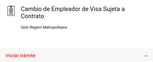 cambio de empleador visa sujeta a contrato region metropolitana chile immichile extranjeria