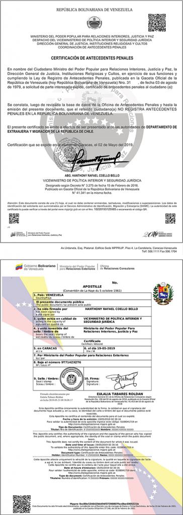 certificado de antecedentes penales del pais de origen immichile permanencia definitiva