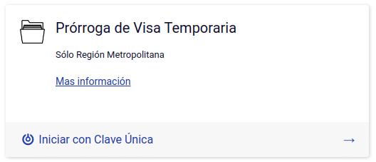 subsanar solicitud de prórroga de visa temporaria realizada en línea extranjería tramites immichile