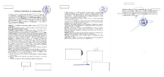 modelo contrato de trabajo presentar extranjeria permanencia definitiva chile immichile