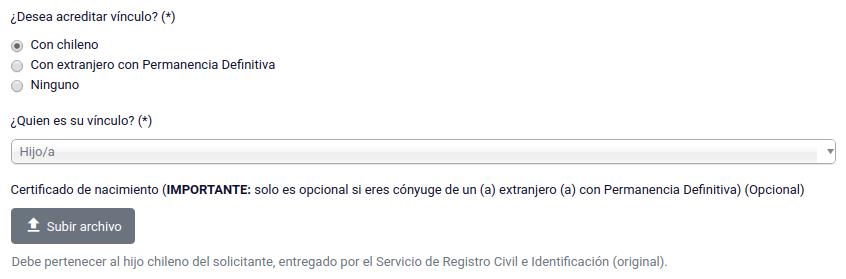 3 Acreditar vínculo hijo hija chileno permanencia definitiva chile immichile extranjeria