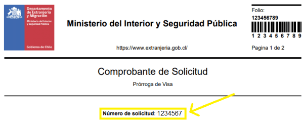 ID Titular prorroga visa de estudiante en linea chile immichile extranjeria