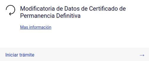 Modificatoria de Datos de Certificado de Permanencia Definitiva extranjeria chile immichile