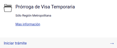 Prórroga de Visa Temporaria extranjeria chile immichile