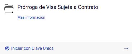 Prorroga de visa sujeta a contrato clave unica en linea extranjeria chile immichile