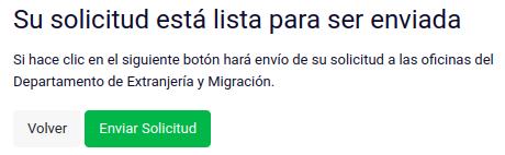 Su solicitud está lista para ser enviada prorroga visa sujeta a contrato chile immichile extranjeria
