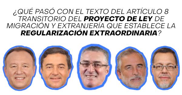 articulo octavo 8 transitorio del proyecto de ley de migracion y extranjeria chile comision hacienda senado immichile regularizacion extraordinaria