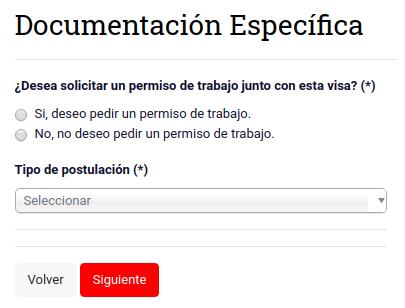 documentación especifica prorroga visa de estudiante