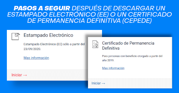 pasos a seguir despues de descargar estampado electronico certificado permanencia definitiva chile immichile extranjeria