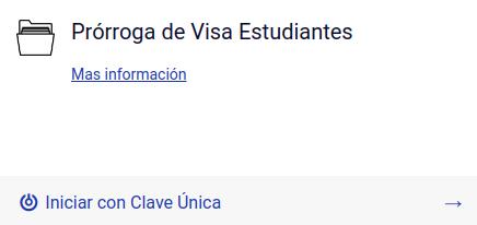 prórroga de visa de estudiante en línea extranjeria chile immichile