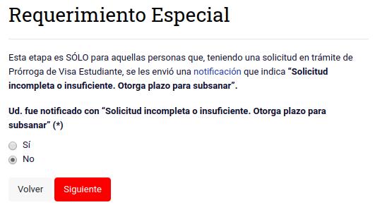 requerimiento especial prorroga visa de estudiante chile immichile extranjeria
