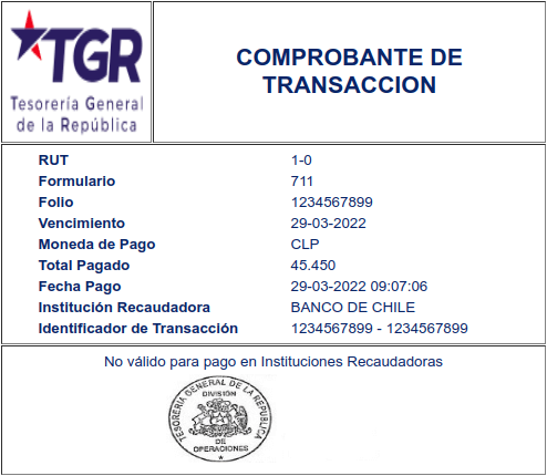Comprobante de transacción tesoreria general de la republica chile extranjeria immichile