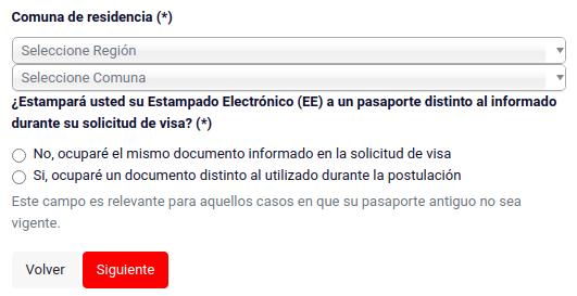 comuna de residencia estampado electrónico extranjeria migraciones immichile