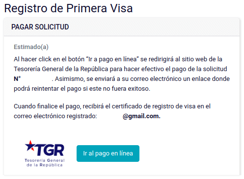 pagar solicitud certificado registro primera visa pdi virtual chile immichile