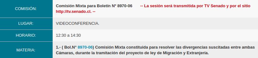 sesion comisión mixta 9 de noviembre de 2020