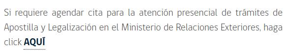 Si requiere agendar cita para la atención presencial de trámites de Apostilla y Legalización en el Ministerio de Relaciones Exteriores haga clic aqui immichile